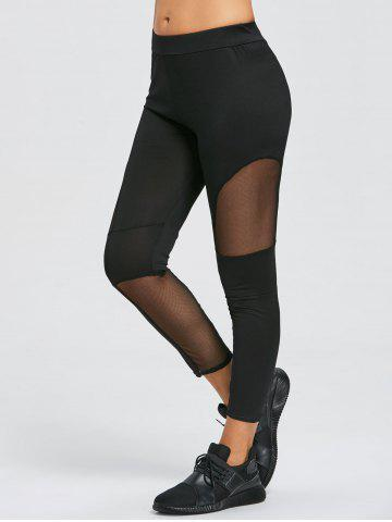 Shops Sheer Mesh Panel Sports Leggings