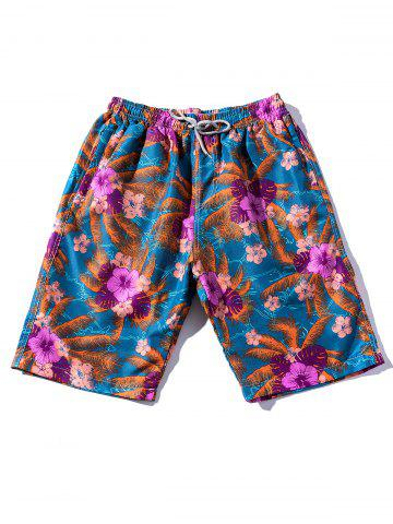 Affordable Flowers and Leaves Beach Shorts