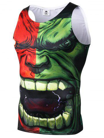 New 3D Character Print Stretchy Tank Top