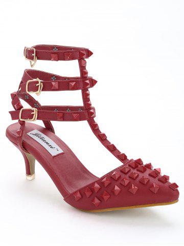 Fancy Pointed Toe Studded Sandals