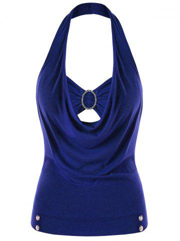 Store Plus Size Embellished Halter Neck Tank Top