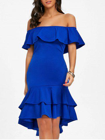 Outfit Ruffle Off The Shoulder Bodycon Dress