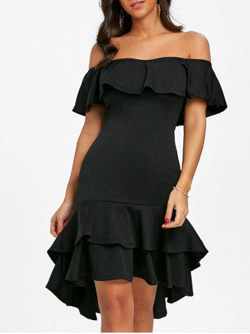 Shops Ruffle Off The Shoulder Bodycon Dress