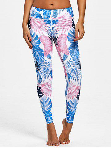 Leggings Active Imprimé Feuille Palmier