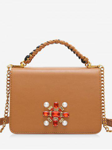 Online Faux Pearl PU Leather Crossbody Bag