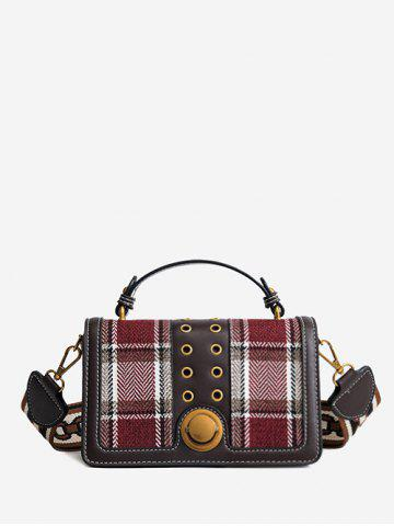 Best Multipurpose Rivet Plaid Shoulder Bag