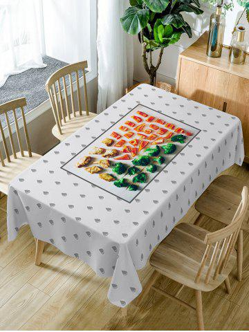 Trendy Foods Print Fabric Waterproof Dining Table Cloth