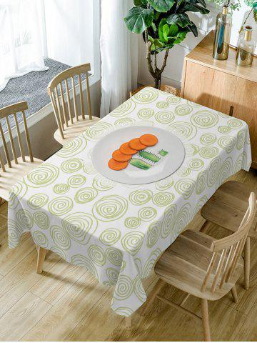 Trendy Carrot Coil Pattern Waterproof Dining Table Cloth