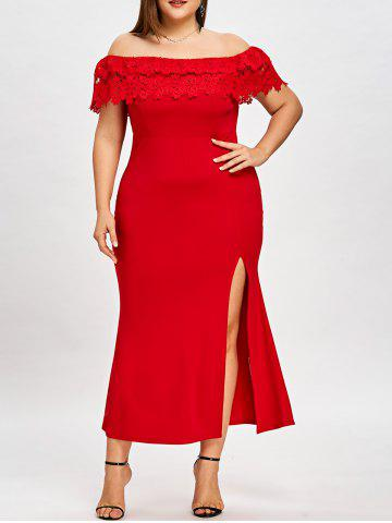 Trendy Plus Size Off The Shoulder Prom Dress
