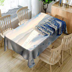 Snow Mountains Landscape Table Cloth -