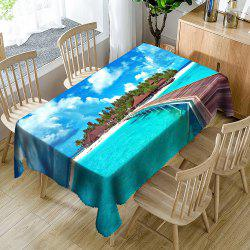 Seascape Printed Waterproof Table Cloth -