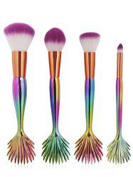 Professional Mermaid Synthetic Fiber Hair Cosmetic Brush Set -