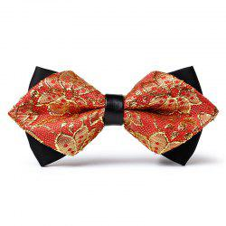 Unique Floral Woven Pattern Mens Bow Tie -