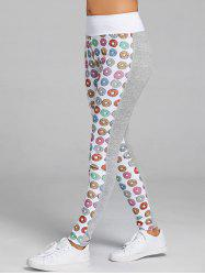 Donut Print Heather Sports Leggings -
