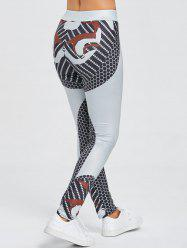 Geometric Print Sports Leggings -