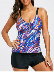Cami Strap Empire Waist Tankini Set -