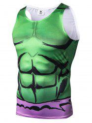 Débardeur motif 3D Cartoon Muscle -