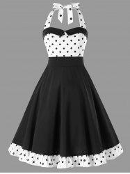 Polka Dot Halter 50s Dress -