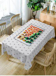 Foods Print Fabric Waterproof Dining Table Cloth -
