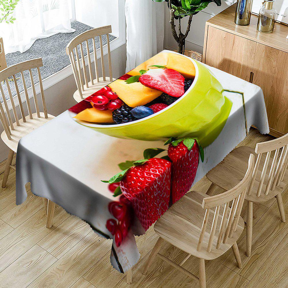 Discount Fresh Fruit Strawberry Print Waterproof Table Cloth