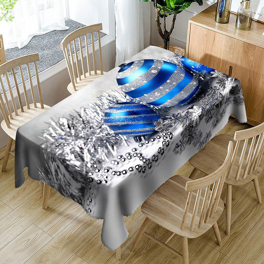 Latest Christmas Balls Printed Waterproof Table Cloth