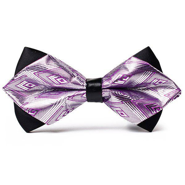 Fashion Rhombus Pattern Shiny Silky Bow Tie
