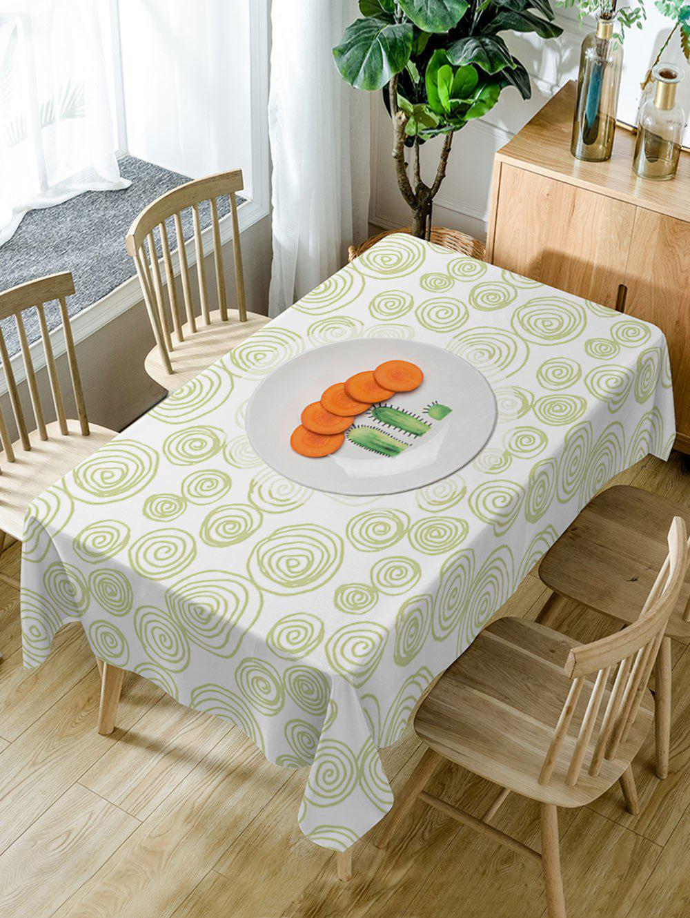 Discount Carrot Coil Pattern Waterproof Dining Table Cloth