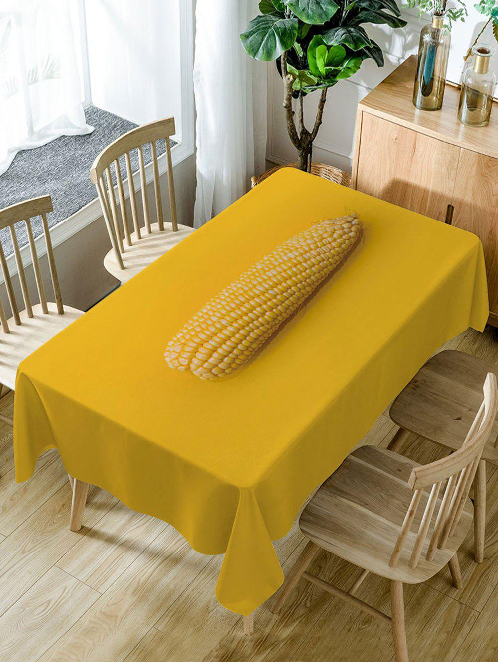 Latest Corn Print Fabric Waterproof Dining Table Cloth