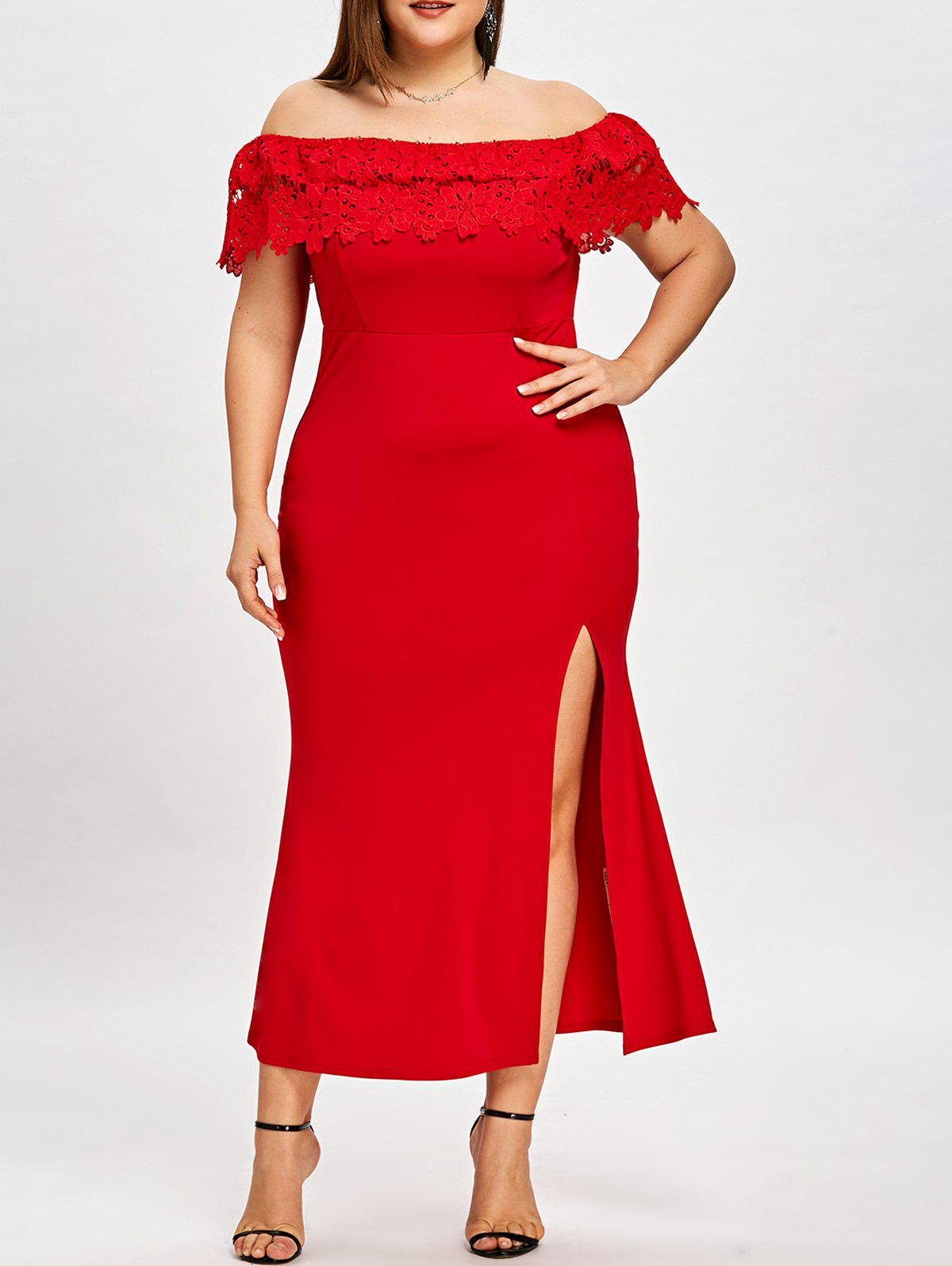 Fancy Plus Size Off The Shoulder Prom Dress