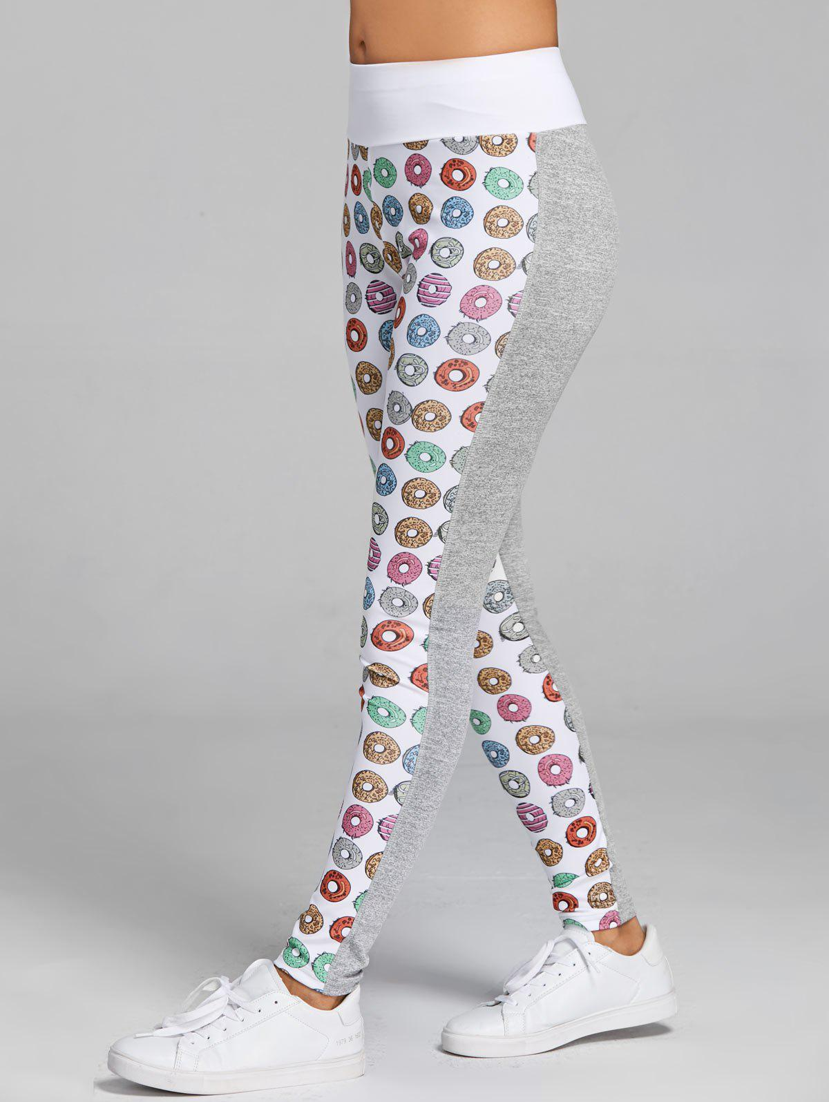 Donut Print Heather Leggings de sport