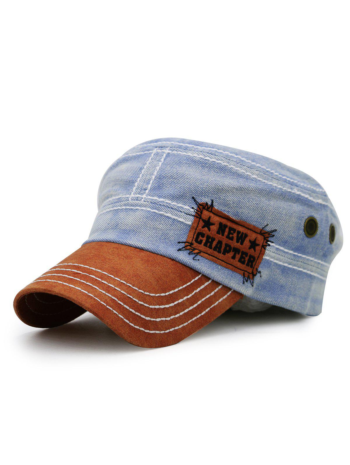 Sale NEW CHAPTER Pattern Denim Flat Top Hat