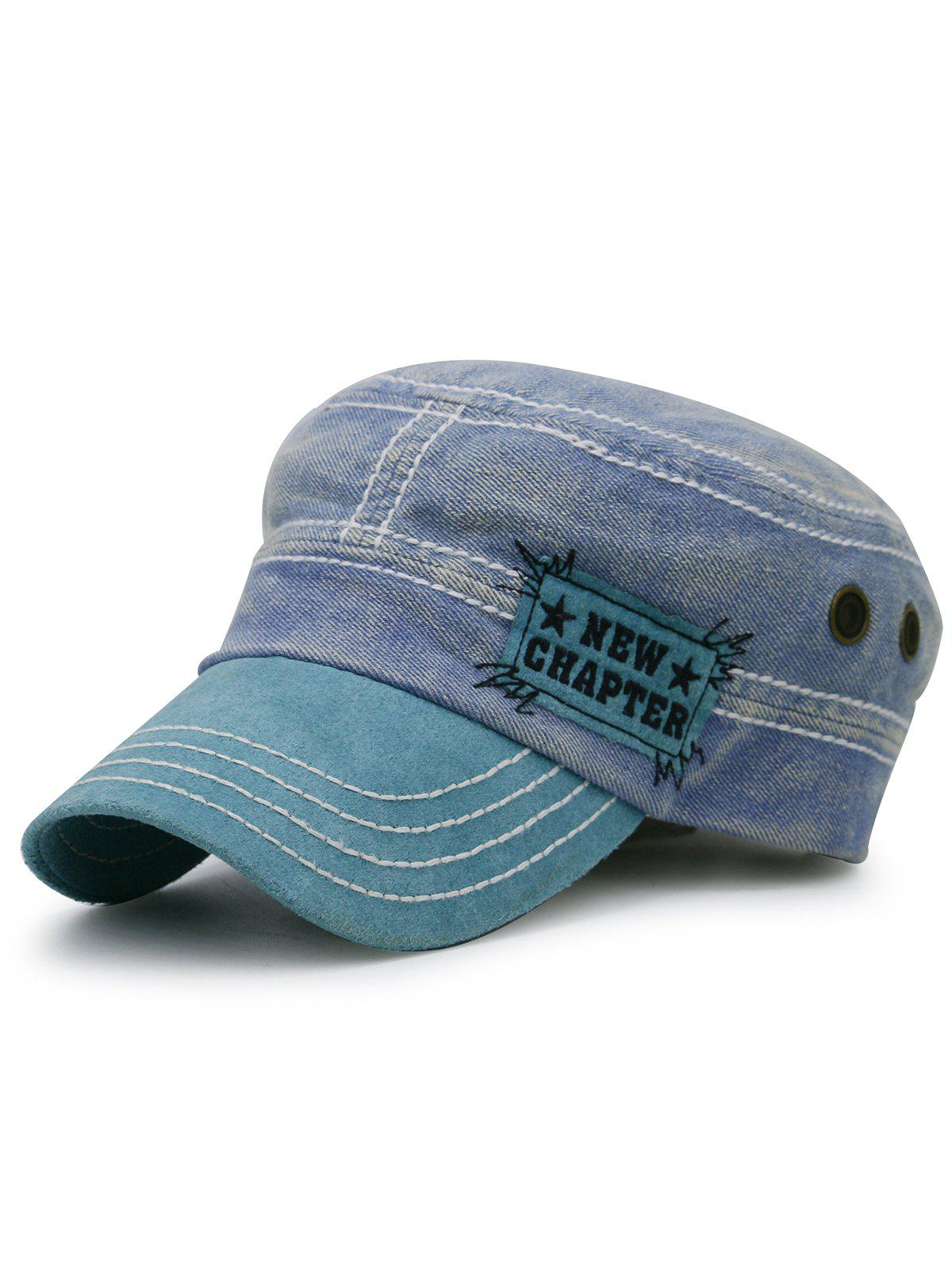 Outfits NEW CHAPTER Pattern Denim Flat Top Hat