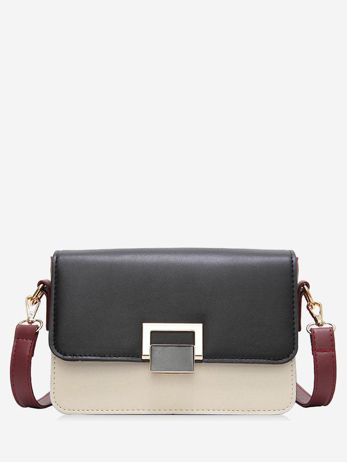 Fancy Flapped Buckled Crossbody Bag