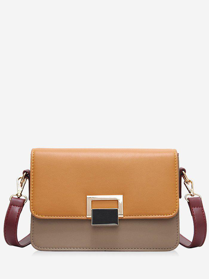 Shop Flapped Buckled Crossbody Bag