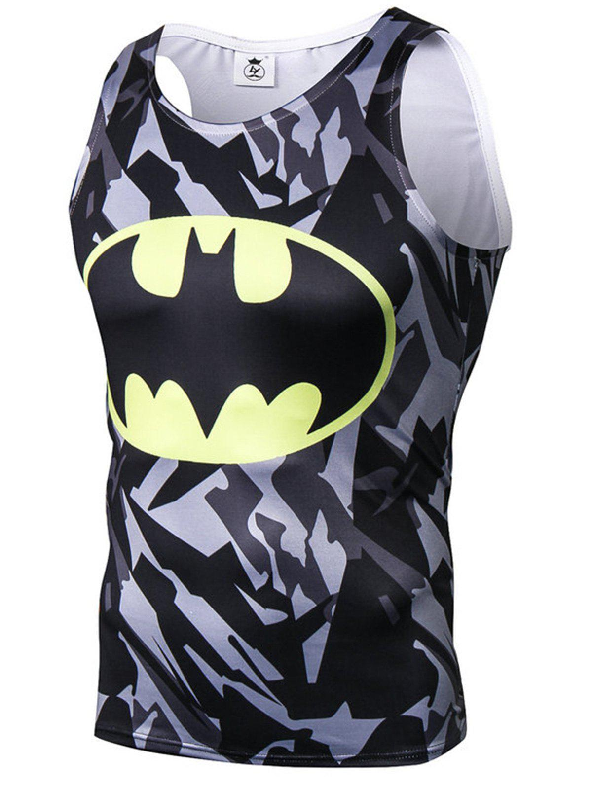 New Camouflage Bat Print Tank Top