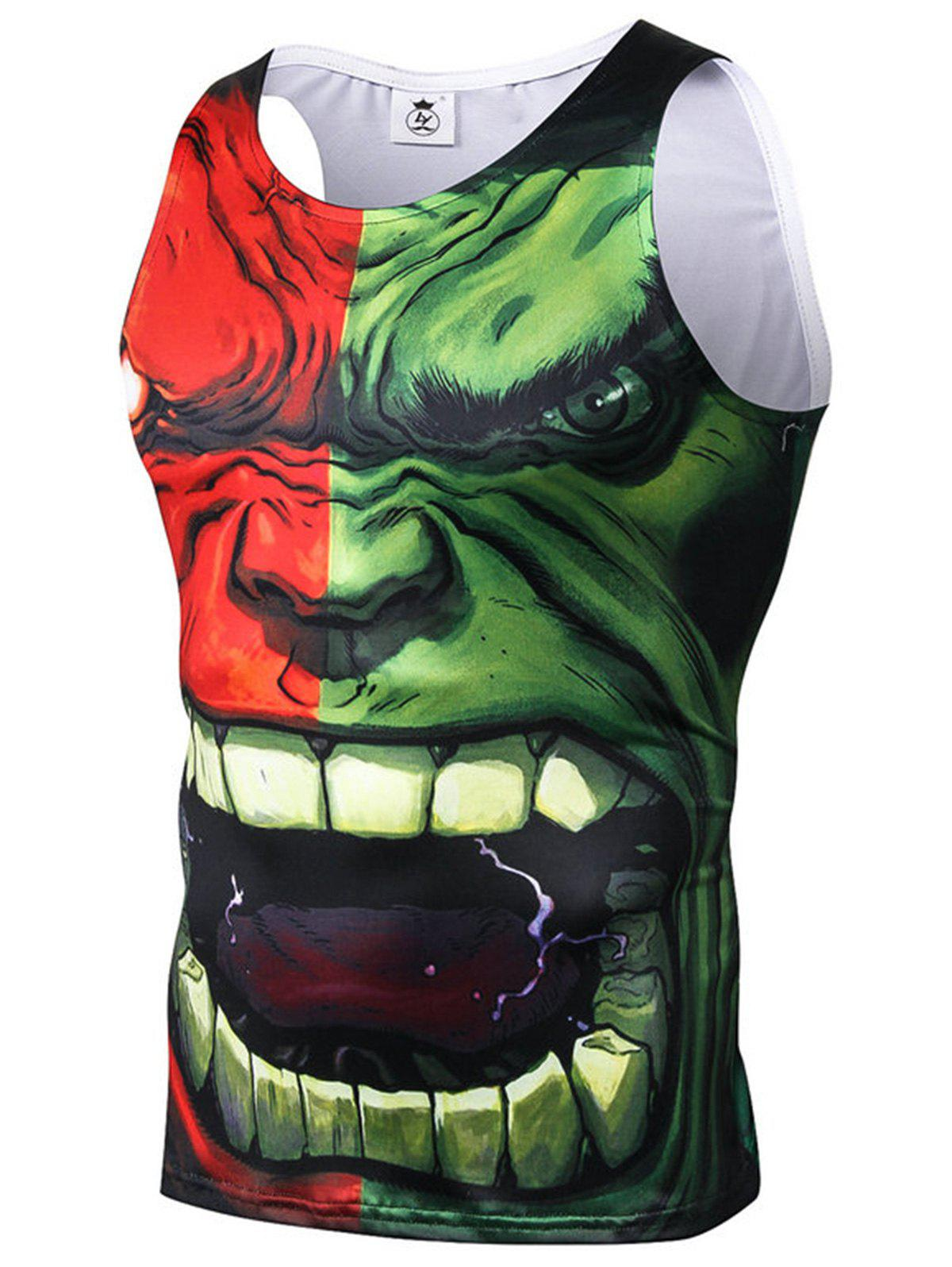 Affordable 3D Character Print Stretchy Tank Top