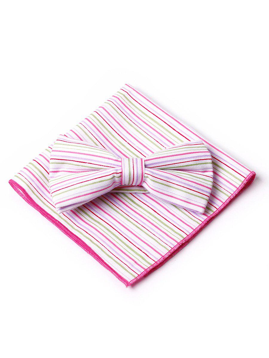 Outfits Simple Striped Pattern Bow Tie and Handkerchief