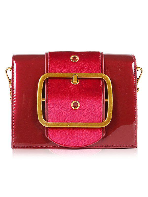 Discount Minimalist Patent Leather Crossbody Bag