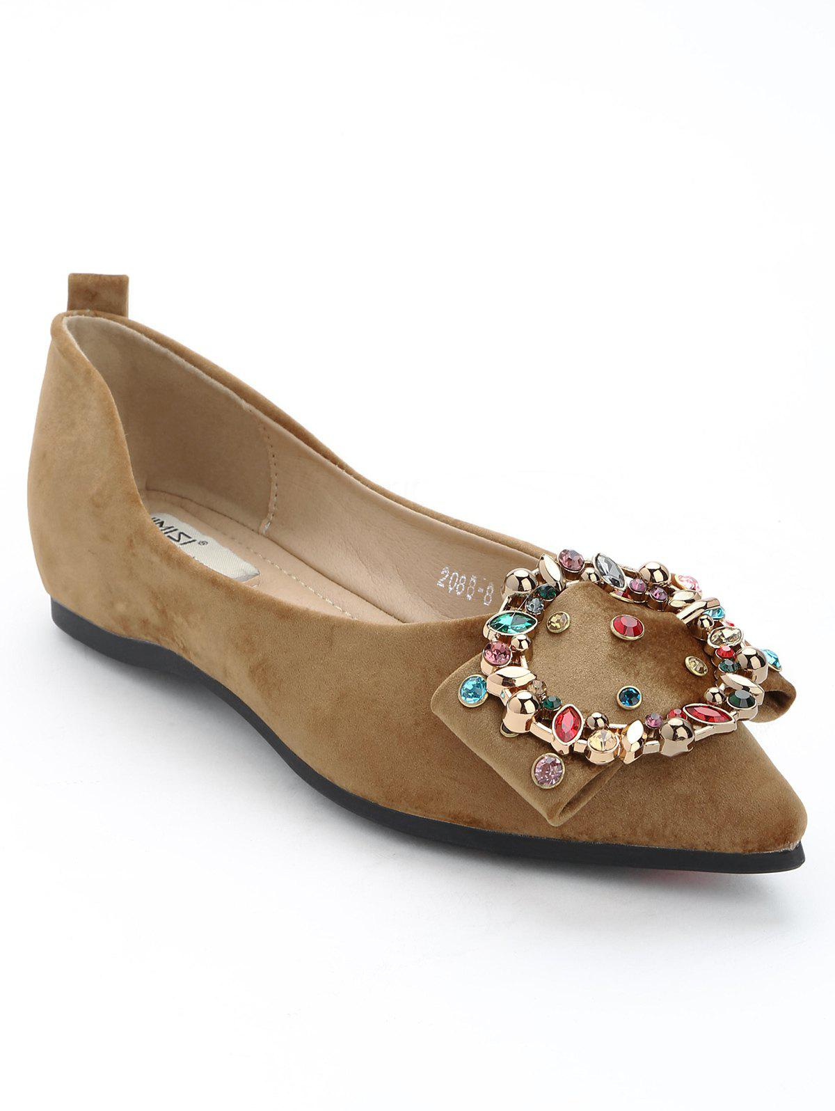 New Casual Buckled Beading Flats