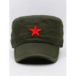 Star Embroidery Adjustable Army Hat -