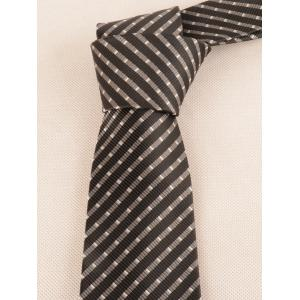 Striped Pattern Silky Formal Business Tie -