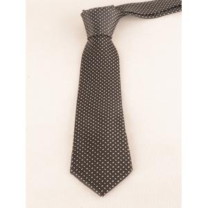 Checked Pattern Embellished Formal Bueiness Tie -