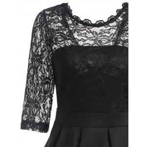 Lace Panel Fit and Flare Dress -
