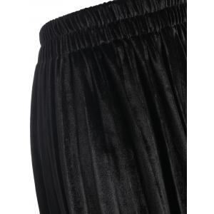 Plus Size Velvet Waisted Skirt -