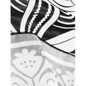 Ethnic Lotus Print Beach Throw -