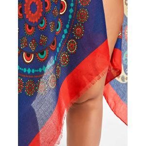 Flower Paisley Print Fringed Beach Throw -