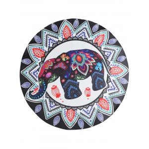 Ethnic Elephant Mandala Print Beach Throw -