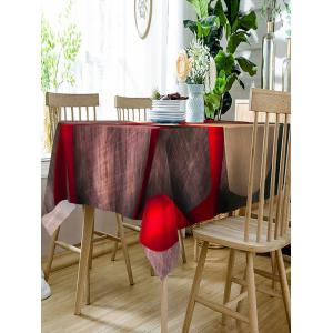 Valentine's Day Gift Ribbon Print Waterproof Table Cloth -