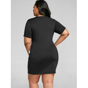 Wings Two Tone Plus Size Party Tight Dress -