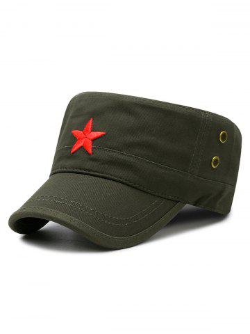 Best Star Embroidery Adjustable Army Hat